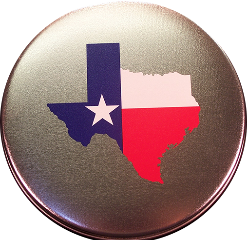 Texas Round Tin 28 oz.